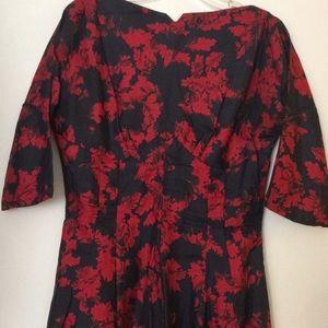 Vintage 50s Silk Dress